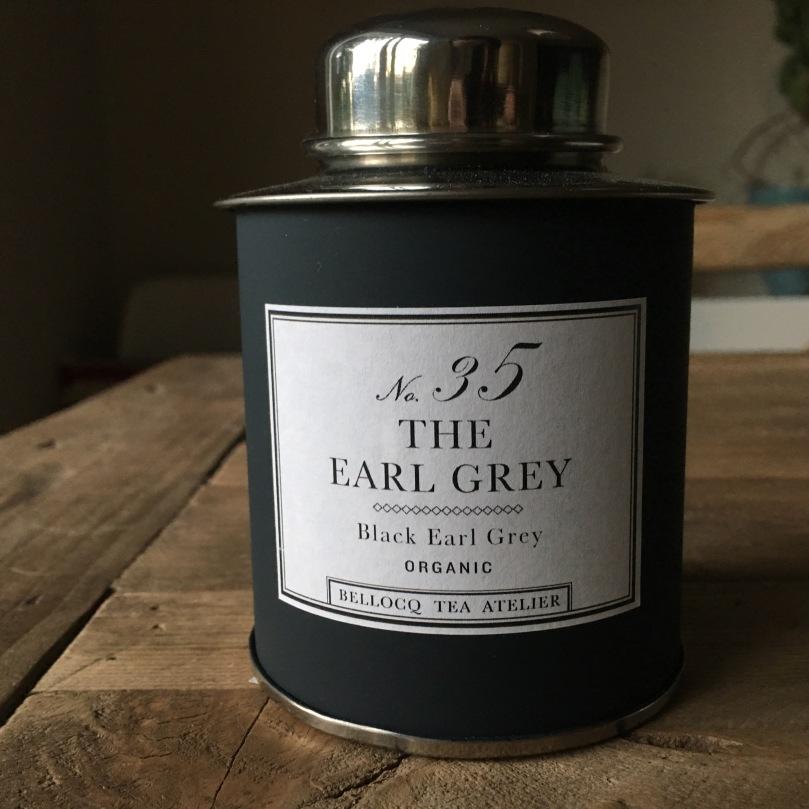 Bellocq tea atelier Earl Grey No 35, silver tea tin