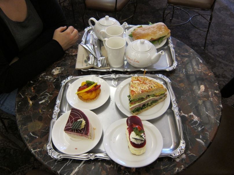 Tea and cake at Murchie's tea shop in Victoria BC