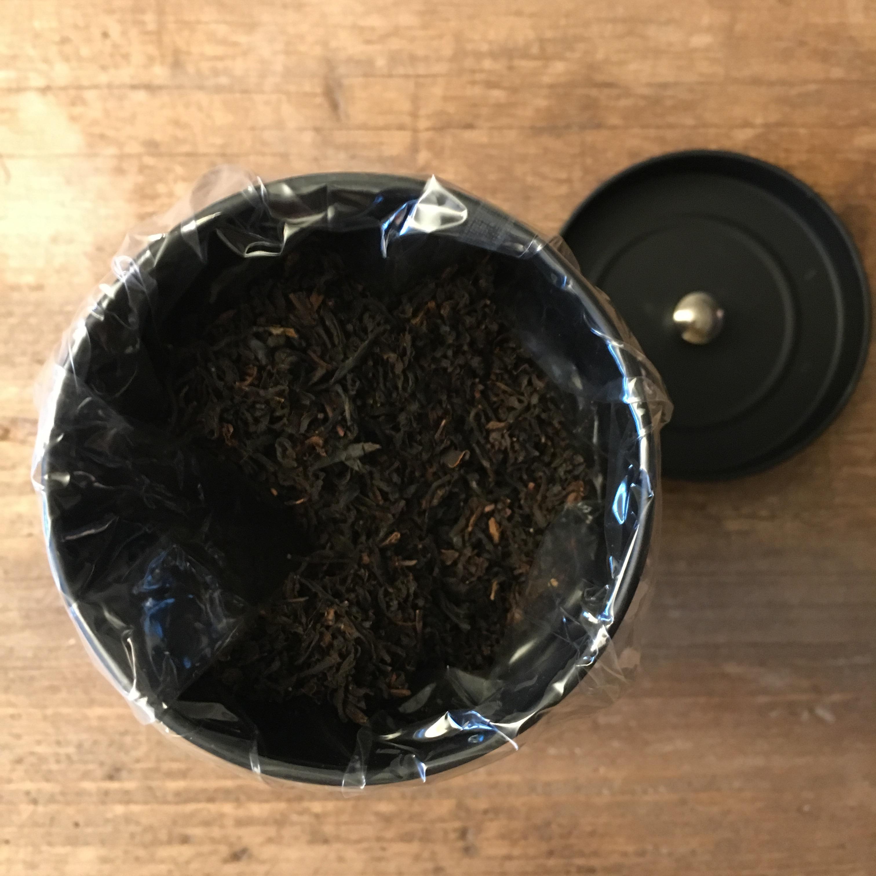 Sing Tehus Earl Grey tea loose leaf in a tin